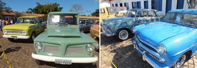 Chevrolet C10 1973, Ford F75, Aeros Willys 1968 e 1962